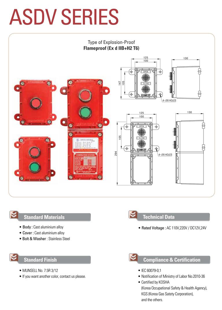 Samik Explosi Onproof Elxctric  ASDV Series