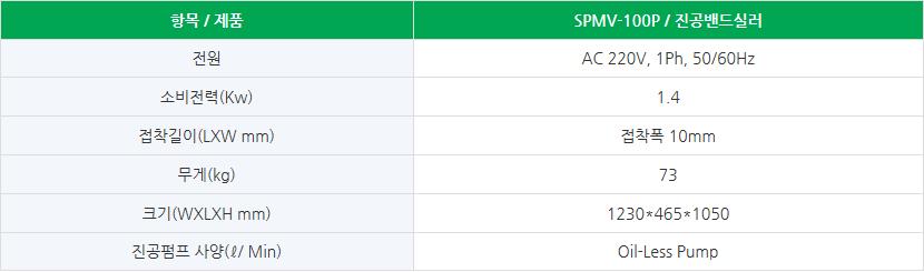 (주)가성팩 노즐식 / 진공밴드실러 SPMV-100P