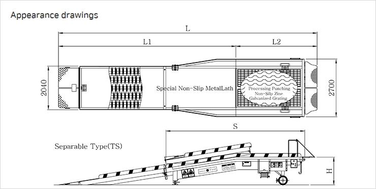 GENERAL DOCK Standard Separable Type 1-Way Mobile Dock TS-Series