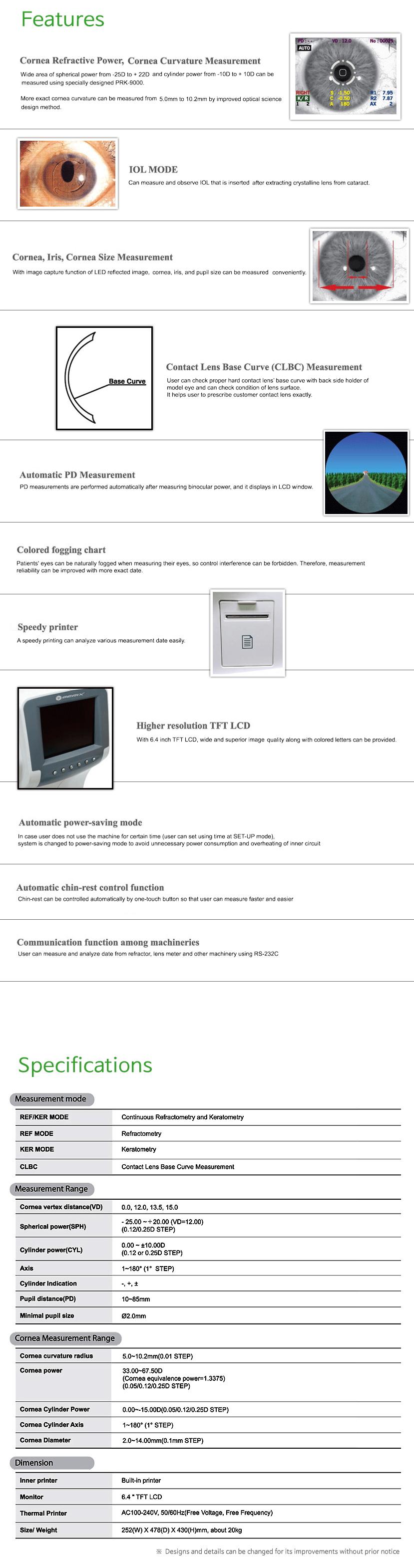 GERIX Auto Ref/Keratometer PRK-9000