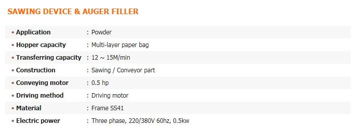 GREEN PACK Sawing Device & Auger Filler