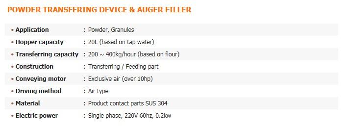 GREEN PACK Powder Transfering Device & Auger Filler