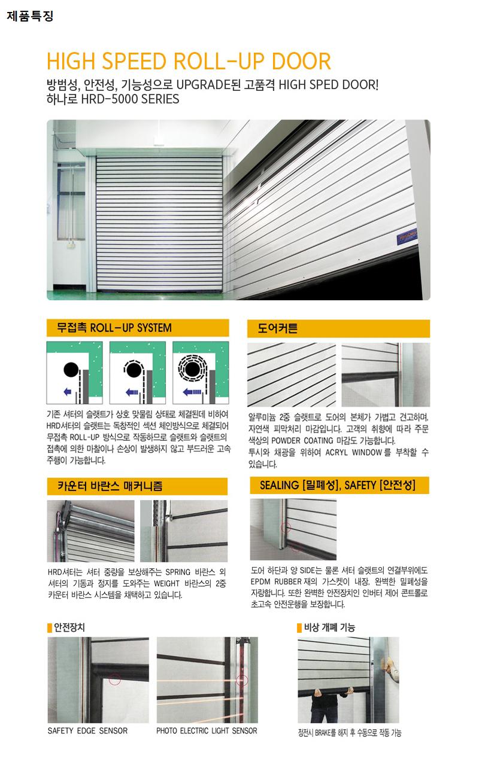 하나기공 AL.High Speed Roll-up Door HRD-5000 3