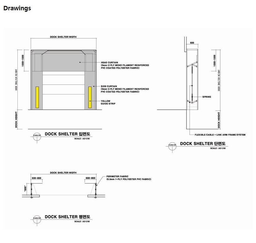 HANA DOOR Dock Shelter HTS-760 2