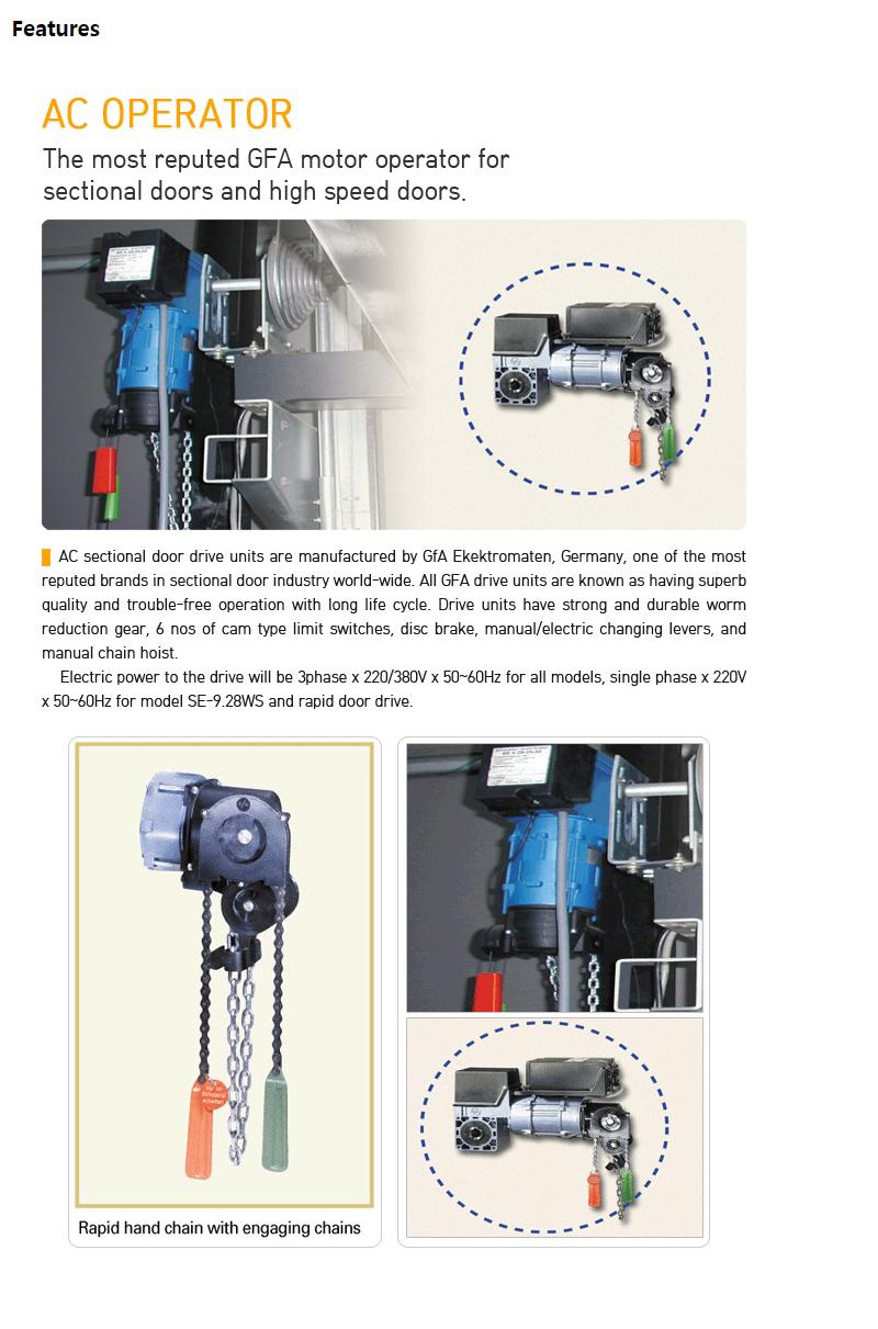 HANA DOOR AC Operators SE-Series