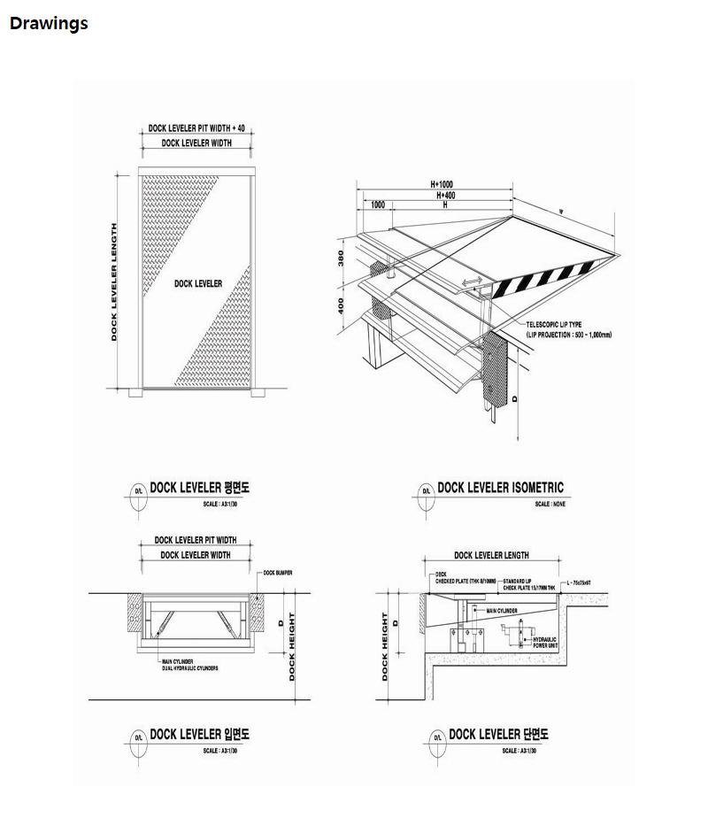 HANA DOOR Hinged Lip type Dock Leveler HDL-2000 2