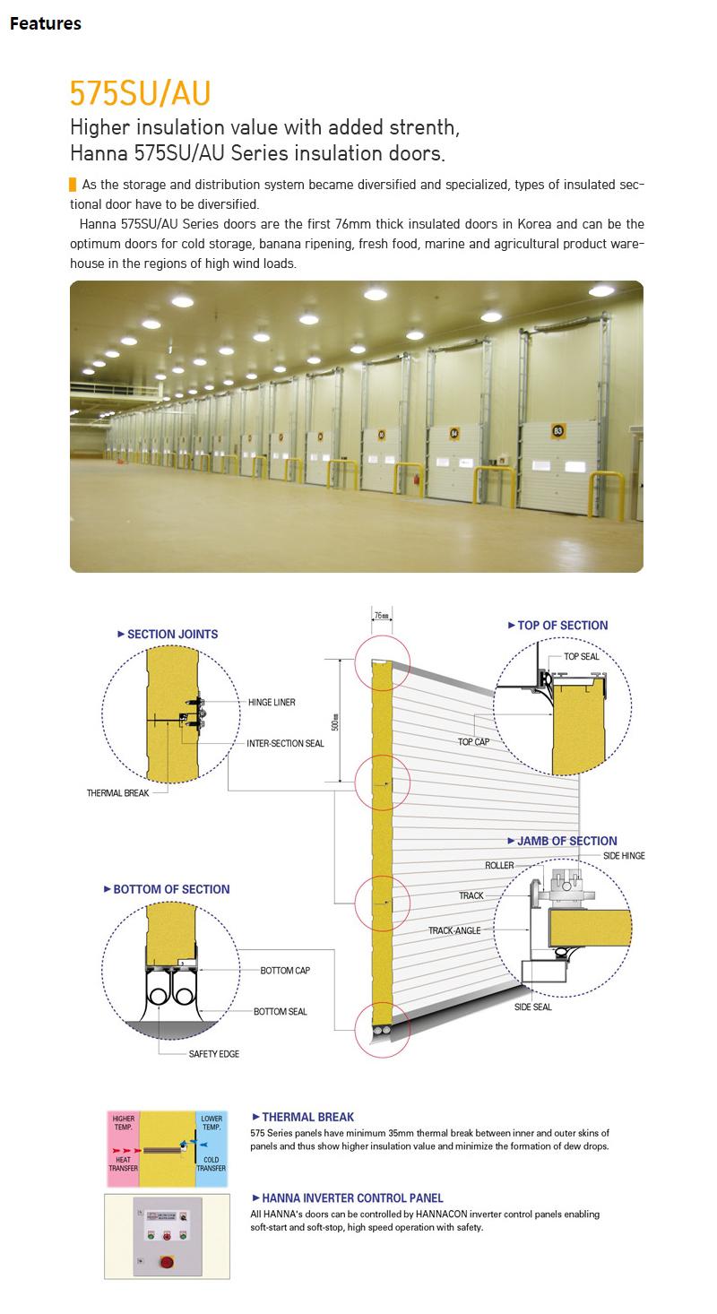 HANA DOOR Steel/AL. Type Overhead Door 575SU/AU