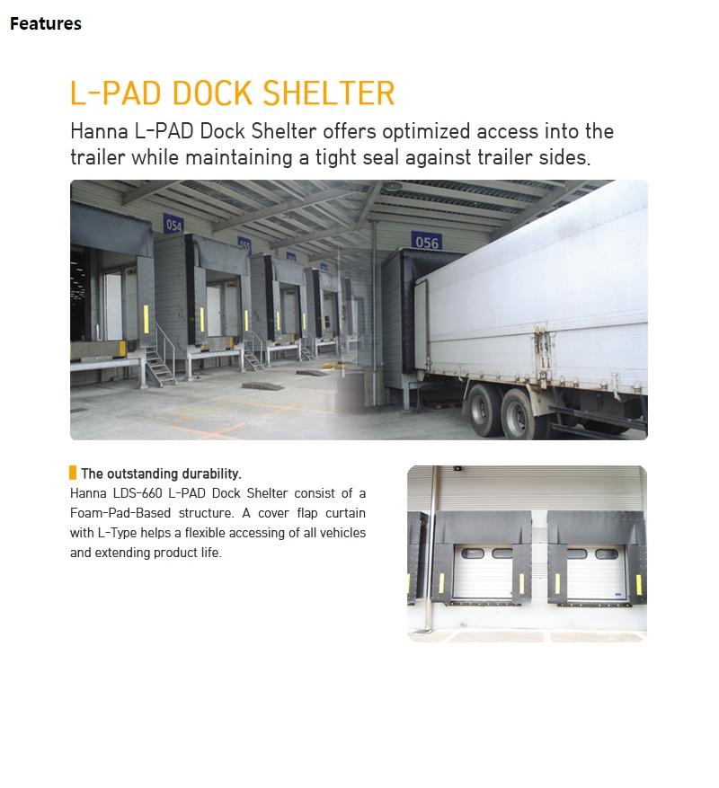 HANA DOOR L-Pad Dock Shelter LDS-660
