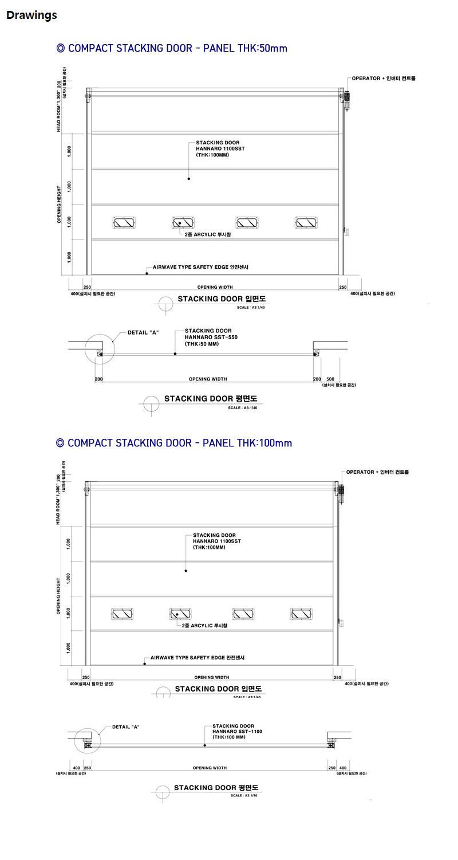 HANA DOOR Compact Stacking Door SST/AST 2