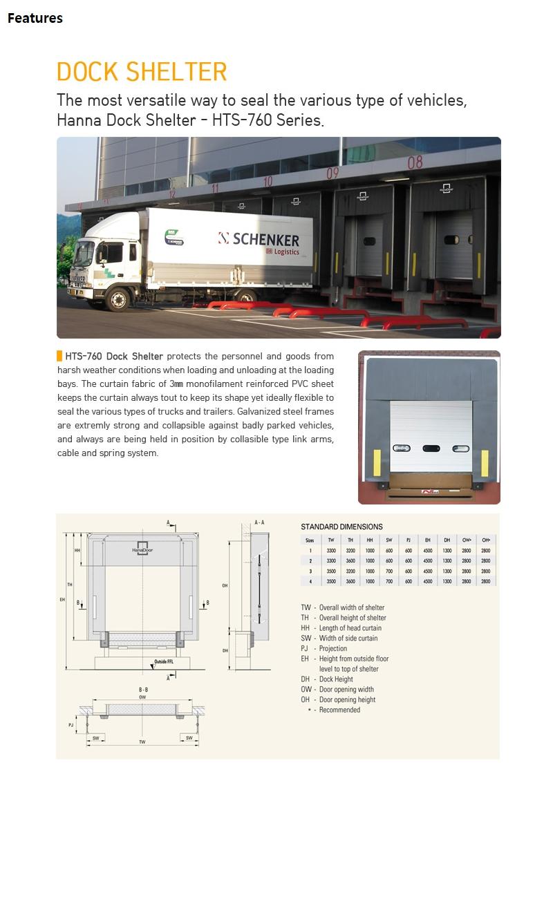 HANA DOOR Dock Shelter HTS-760