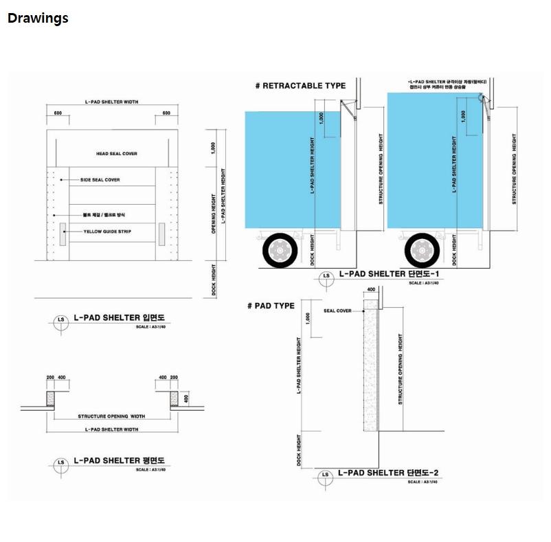 HANA DOOR L-Pad Dock Shelter LDS-660 2