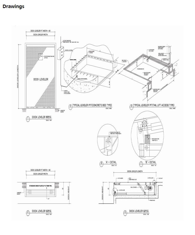 HANA DOOR Telescopic Lip type Dock Leveler HTL-3000 2