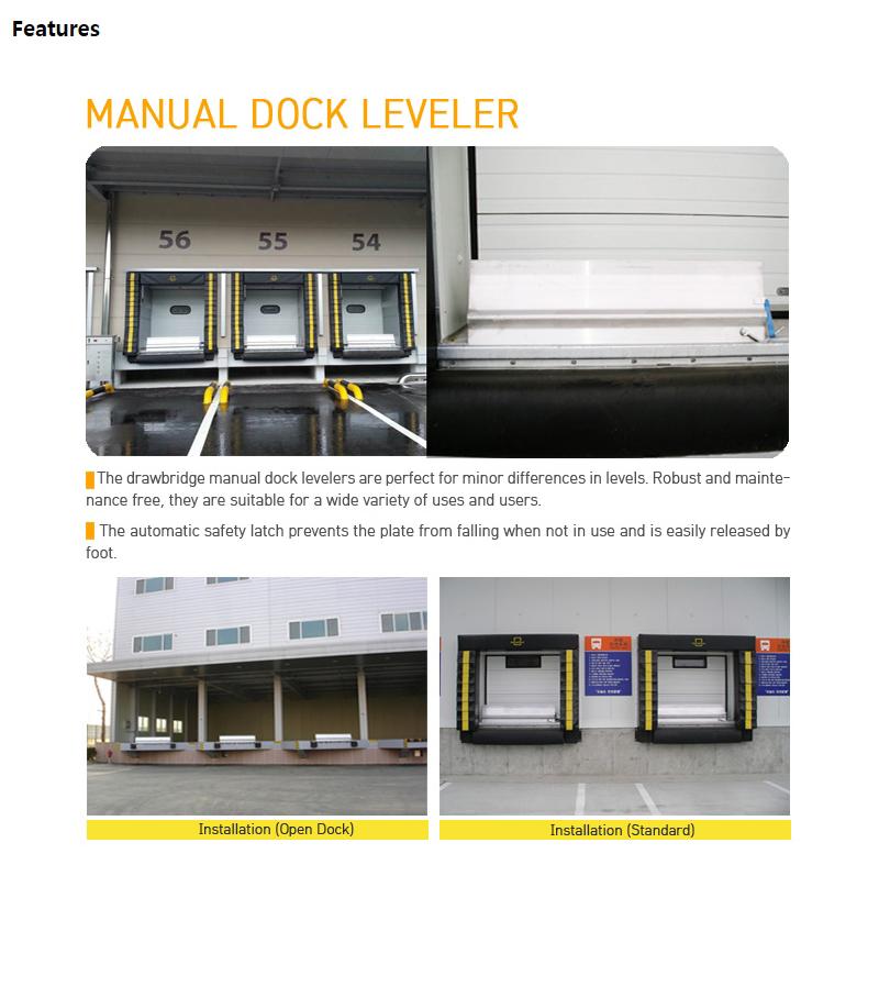HANA DOOR Manual Dock Leveler KBS/SKB/FB-Series