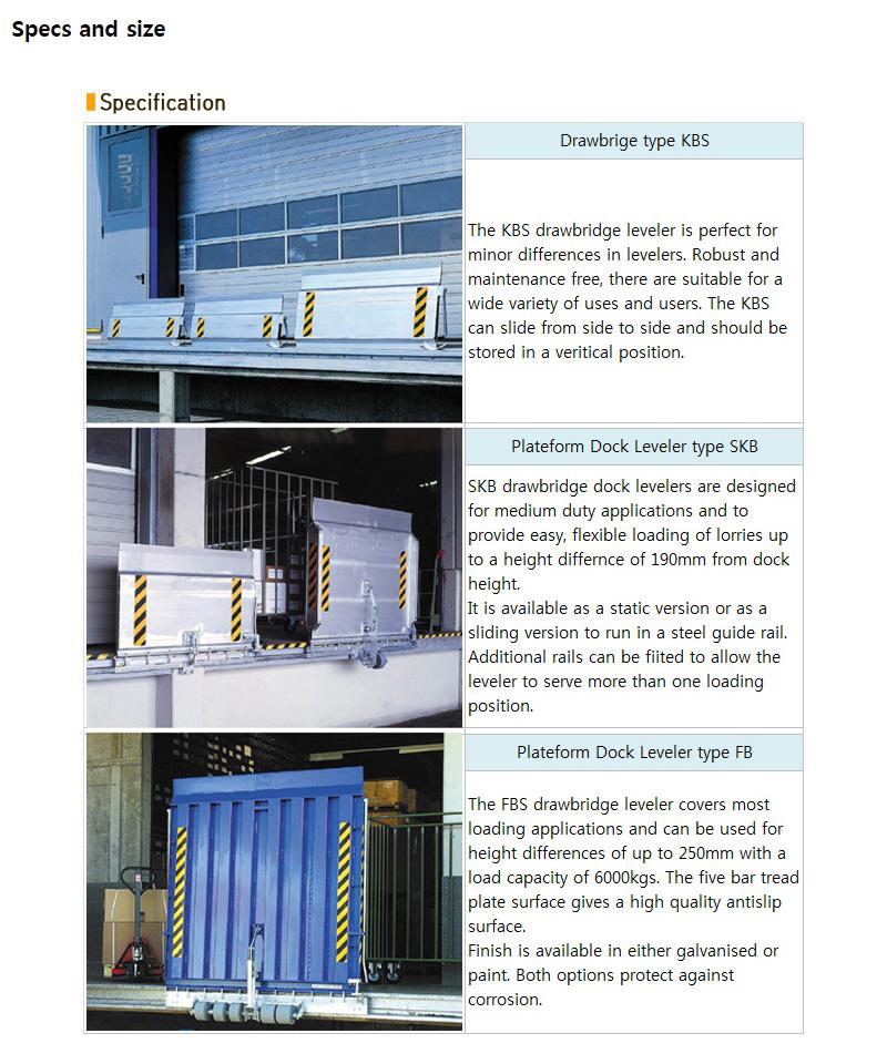 HANA DOOR Manual Dock Leveler KBS/SKB/FB-Series 1