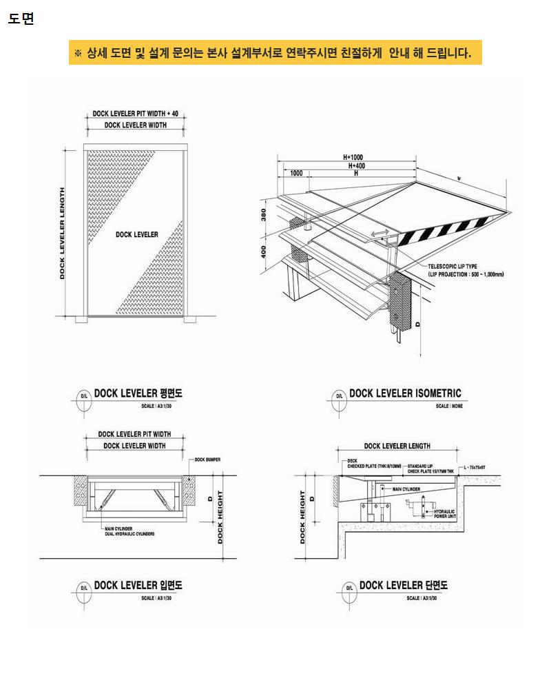 하나기공 Telescopic Lip type Dock Leveler HTL-3000 5