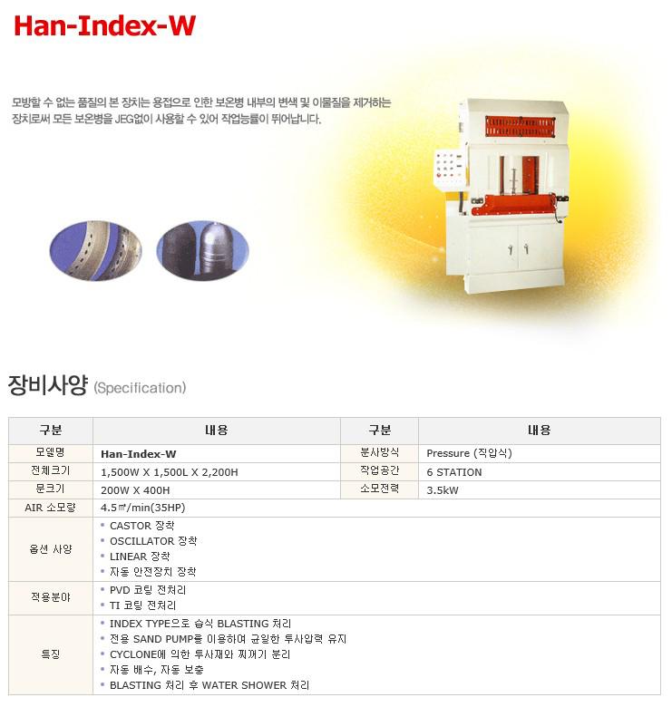 한국브라스트(주) 직압식 인덱스 Han-Index-W