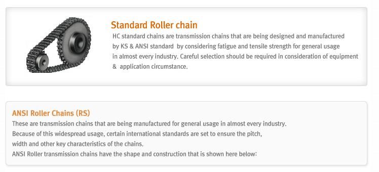 HANKUK CHAIN Standard Roller chains