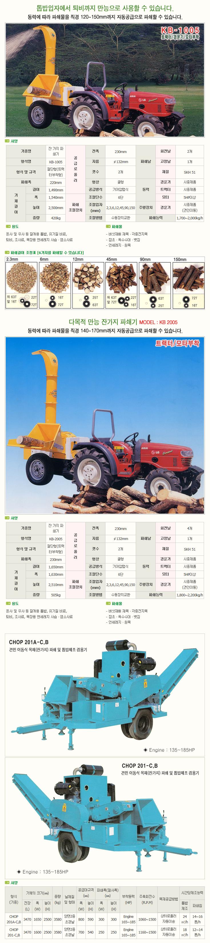 한국분체기계(주) Wood Chip Machine