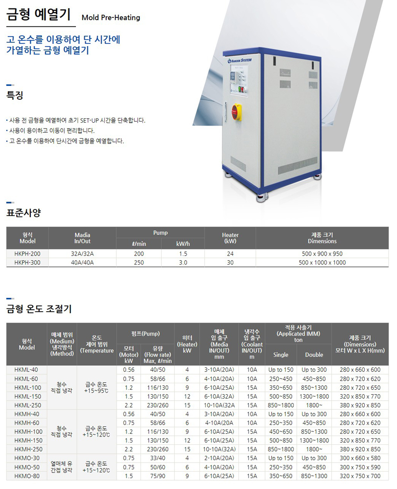 한국시스템(주) 금형 예열기