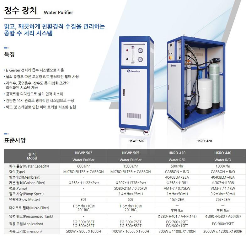 한국시스템(주) 정수 장치
