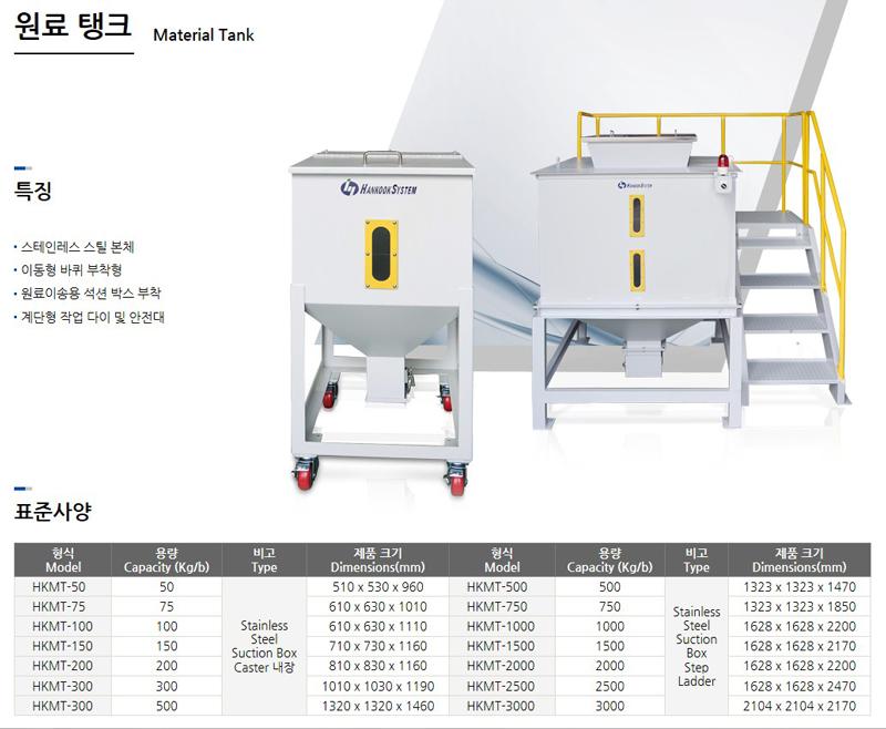 한국시스템(주) 원료 탱크
