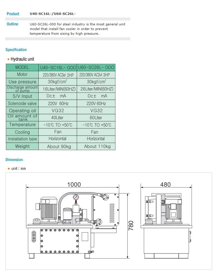 "HANMI ELECTRONICS HY"" UNIT U40-SC16L-, U60-SC26L-"