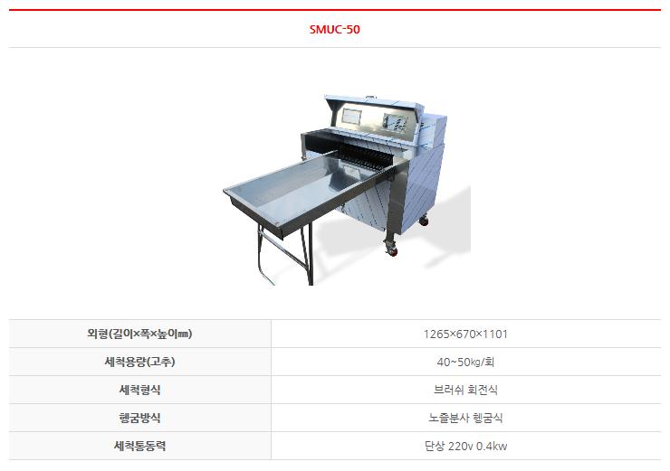 한성 다축솔 농산물 세척기 SMUC-50 1