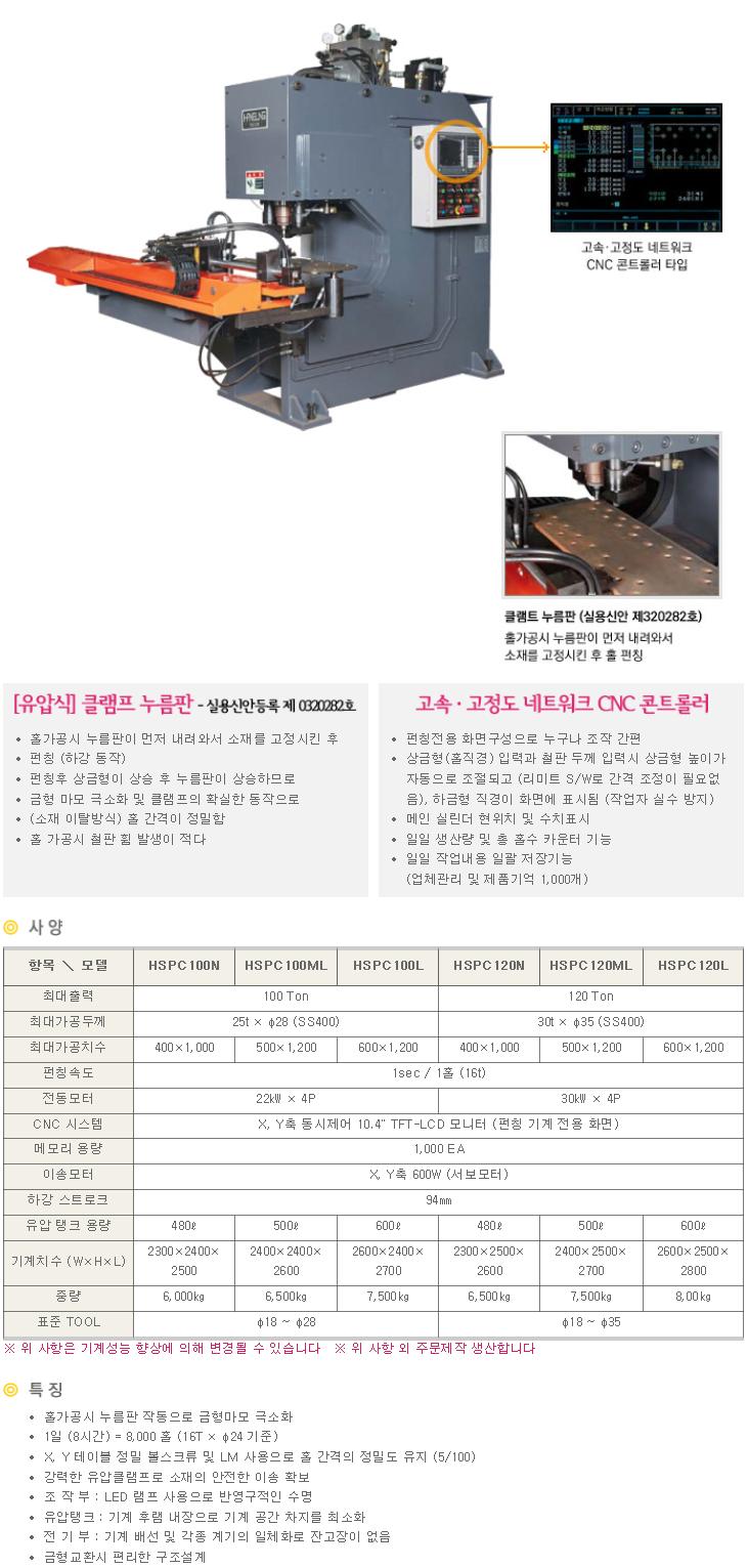 (주)한성텍 홀 천공기계 HSPC Series