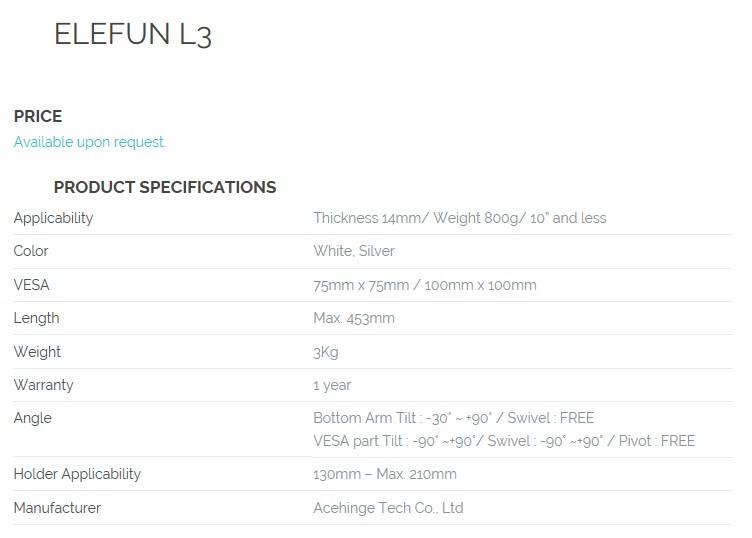 HEALCERION Tablet Accessory ELEFUN L3