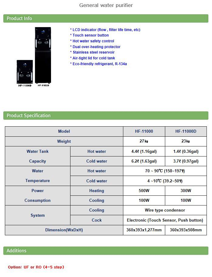 HIFIL TECH General water purifier HF-11000, HF-11000D