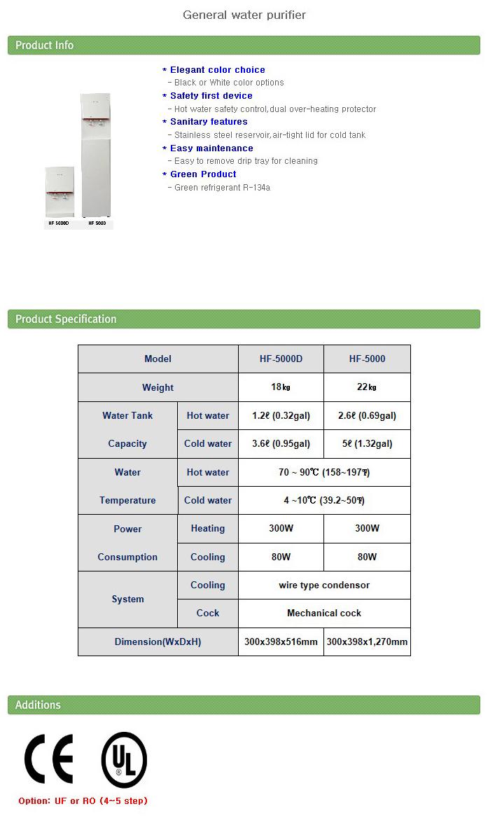 HIFIL TECH General water purifier HF-5000D, HF-5000