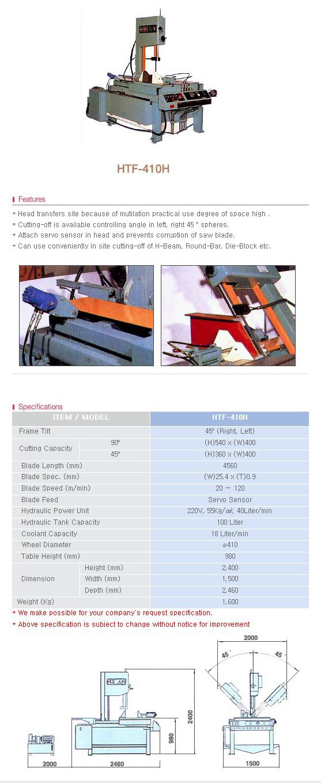 HOE JUN PRECISION Tilt Frame Sawing M/C HTF-410H