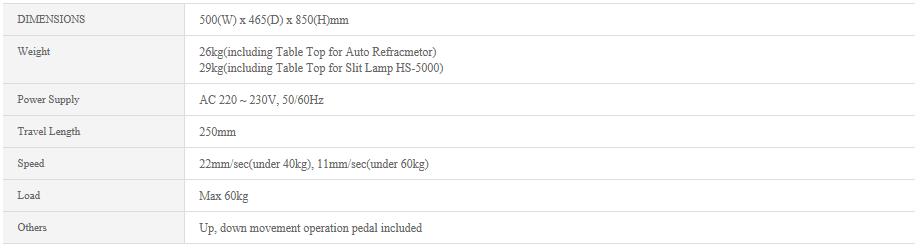HUVITZ Unit table CIT-4000