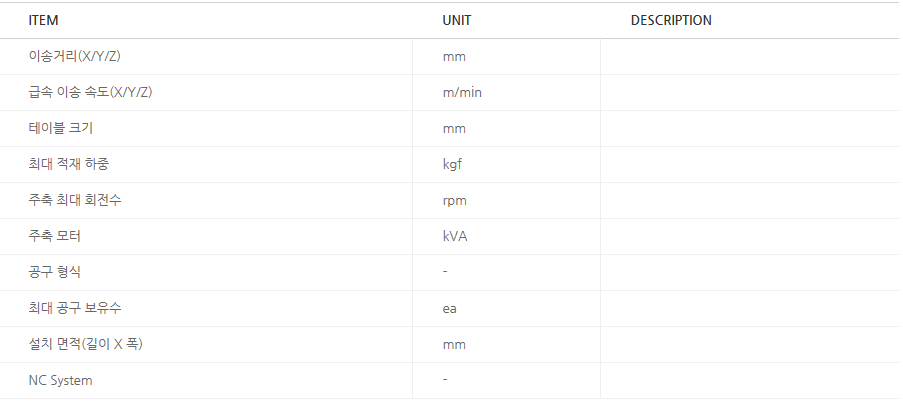 화천 대형 CNC 5면 가공기 HMP-Series 1
