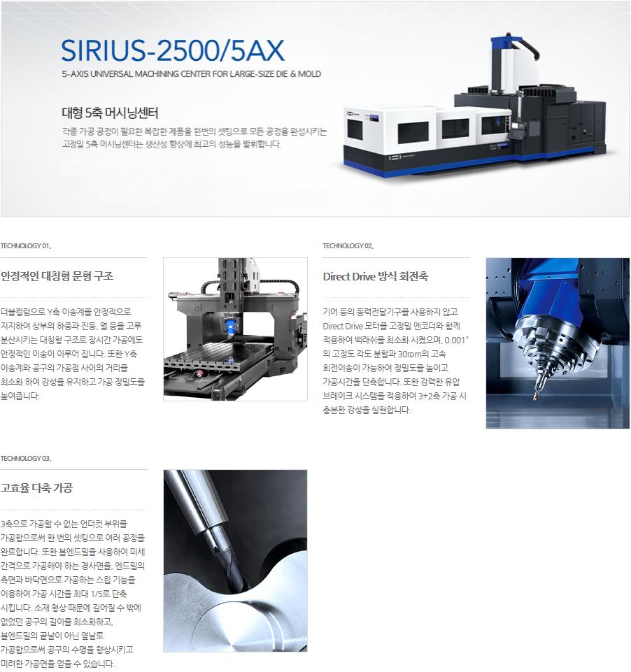 화천 대형 5축 머시닝센터 SIRIUS-2500/5AX 4