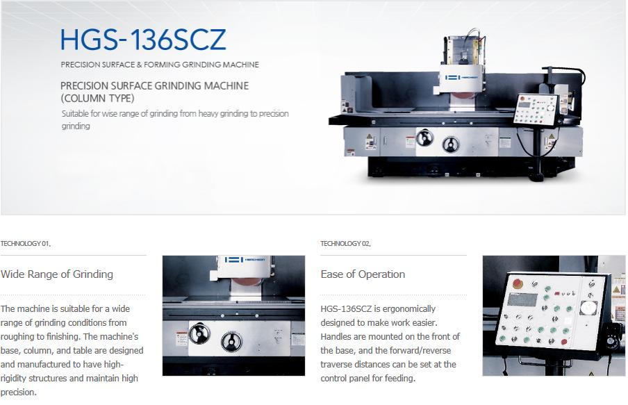 HWACHEON Precision Surface Grinding Machine (Column Type) HGS-136SCZ