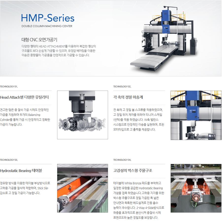 화천 대형 CNC 5면 가공기 HMP-Series