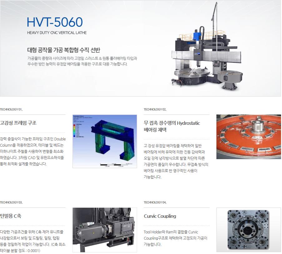 화천 대형 공작물 가공 복합형 수직 선반 HVT-5060T(M) 2