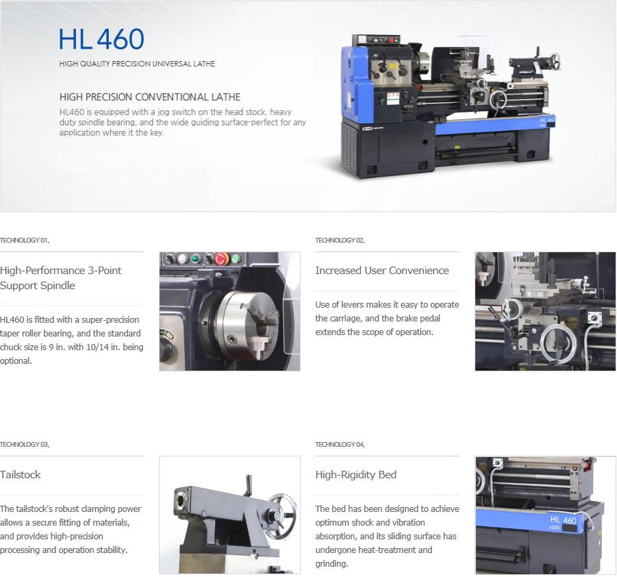 HWACHEON Precision Universal Lathe HL460