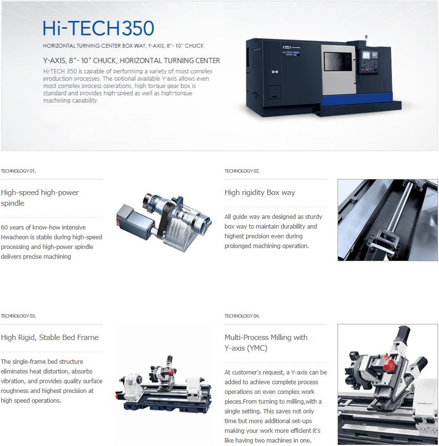 "HWACHEON 8""-10"" Box Way Type, For Y-Axis Hi-TECH 350"