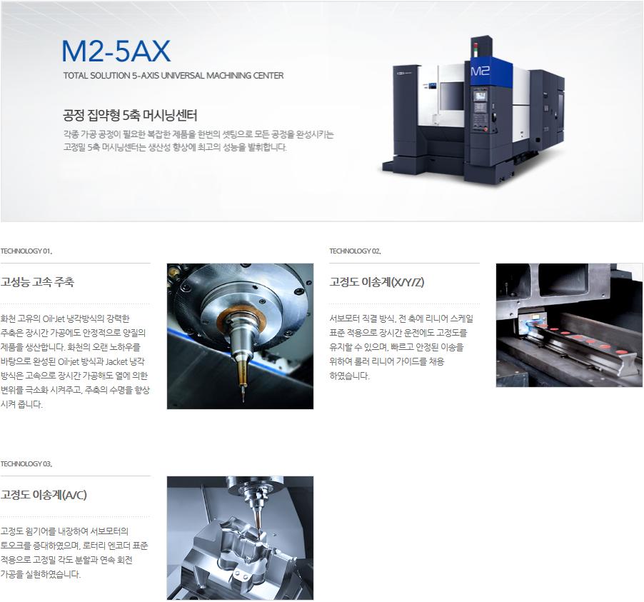 화천 공정 집약형 5축 머시닝센터 M2-5AX 3
