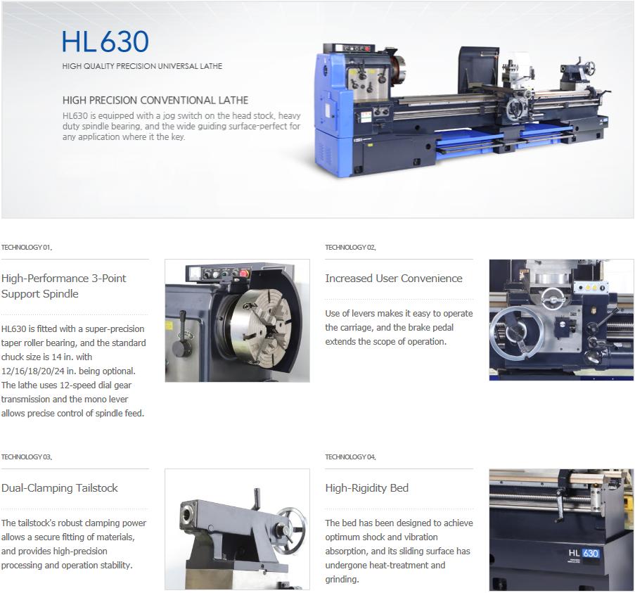 HWACHEON Precision Universal Lathe HL630