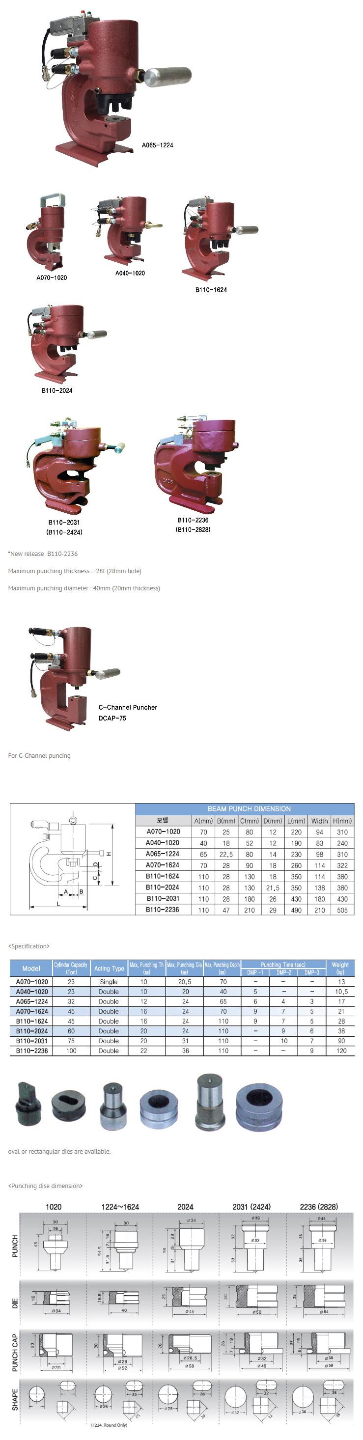 Daechun Hydraulic Machinery Hydraulic Beam & Angle Puncher