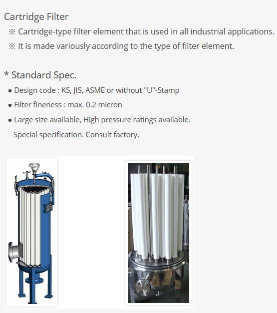 HANYANG F&E Cartridge Filter (PF04)
