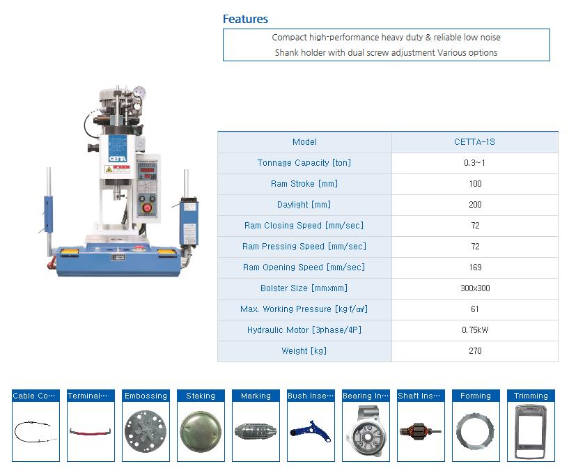 HYUNDAE MECHANIC AND ELECTRONIC Bench Type Hydraulic Press (1 Ton) CETTA-1S