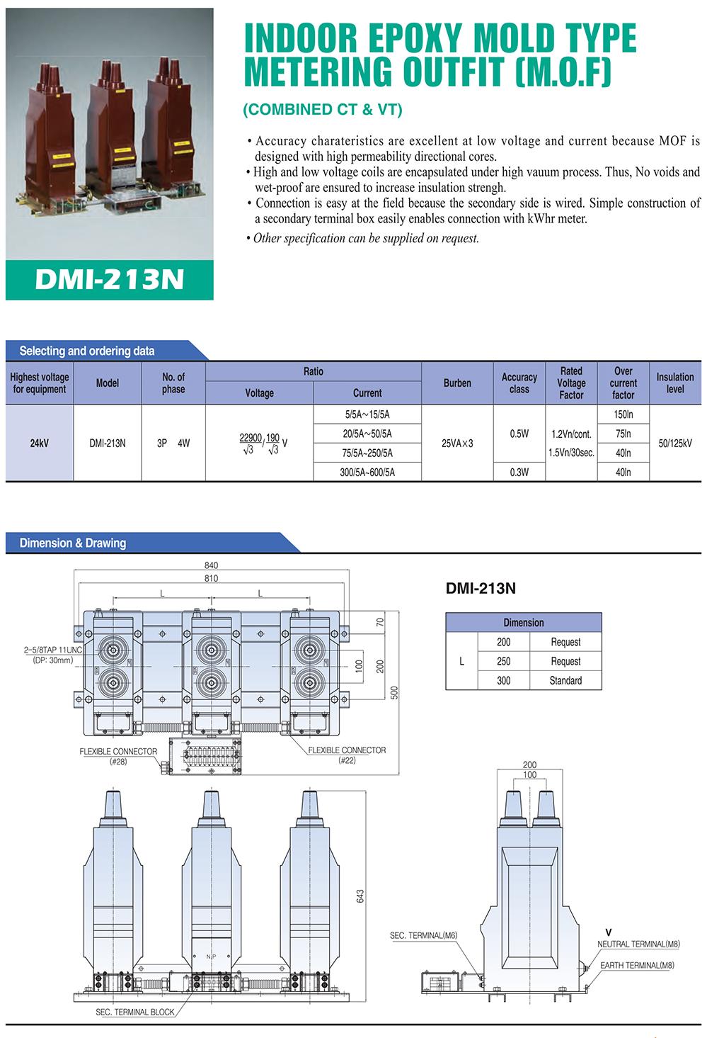 DONGWOO Indoor Epoxy Mold type MOF DMI-213N