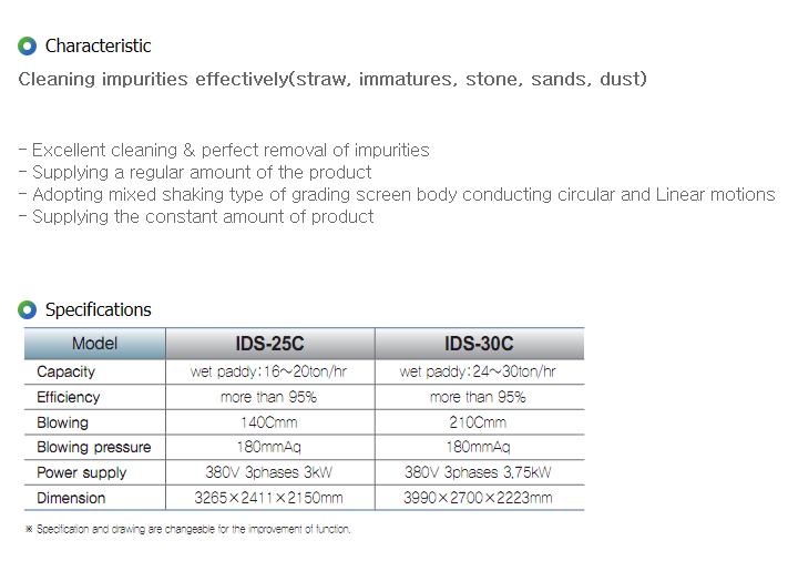 IGSP Pre-Cleaner IDS-25C/30C