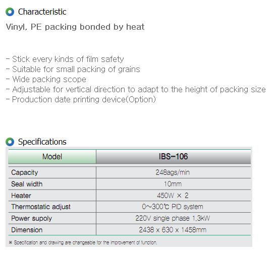 IGSP Band Sealer IBS-106