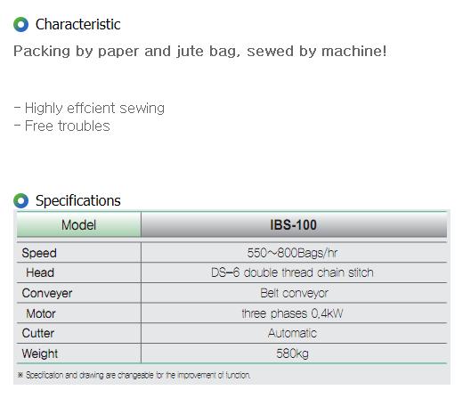 IGSP Semi Auto Sewing M/C IBS-100