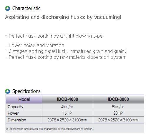 IGSP Vacuum Husk Blower IDCB-4000, IDCB-8000